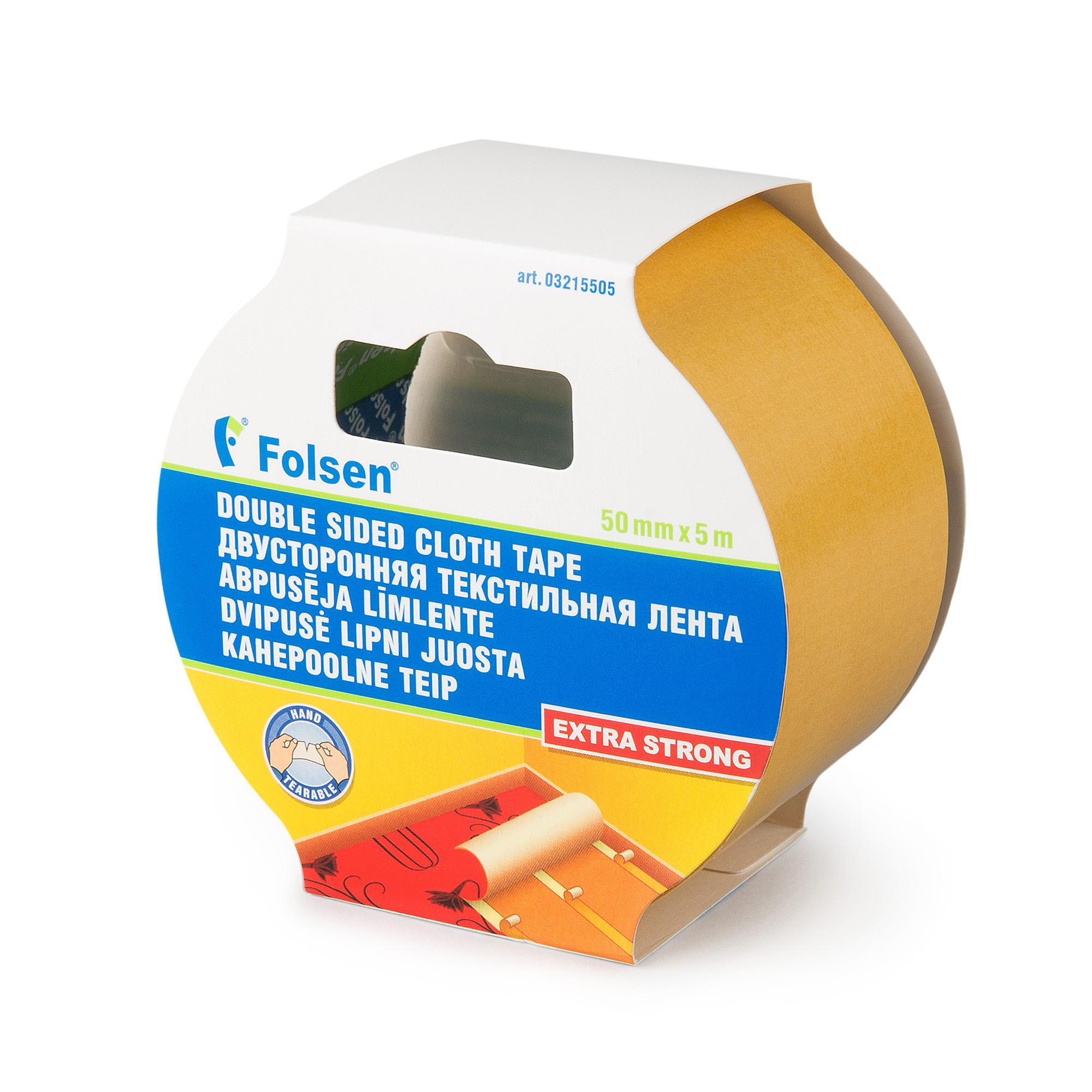 Лента двусторонняя Folsen 3215505 тканевая