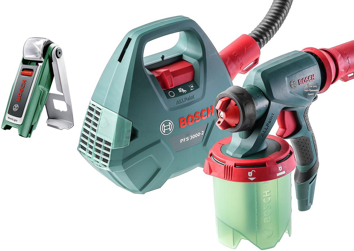 Набор Bosch Краскопульт pfs 3000-2 (0.603.207.100) +Фонарь 0603975801