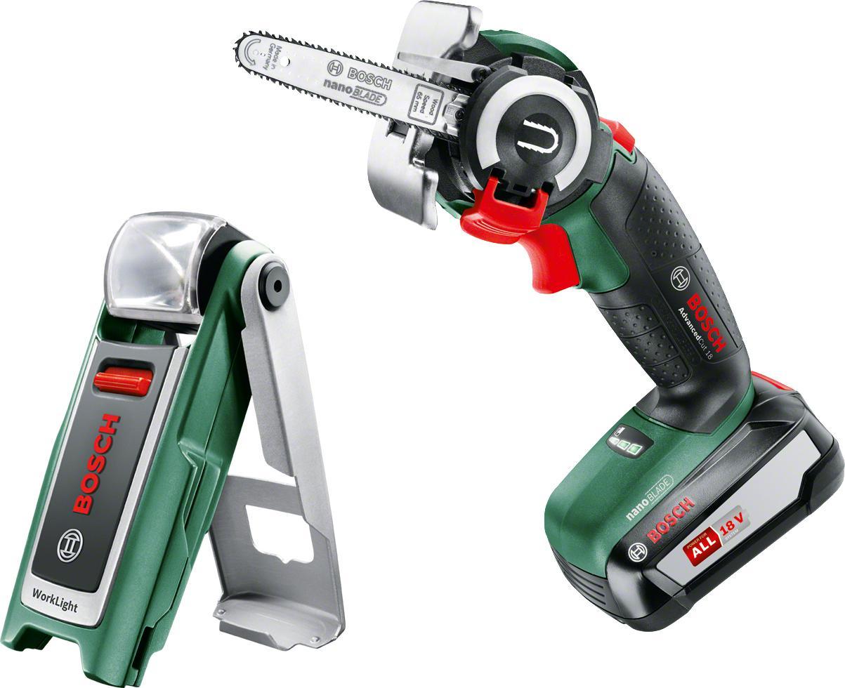 Набор Bosch Пила цепная аккумуляторная  +Фонарь 0603975801
