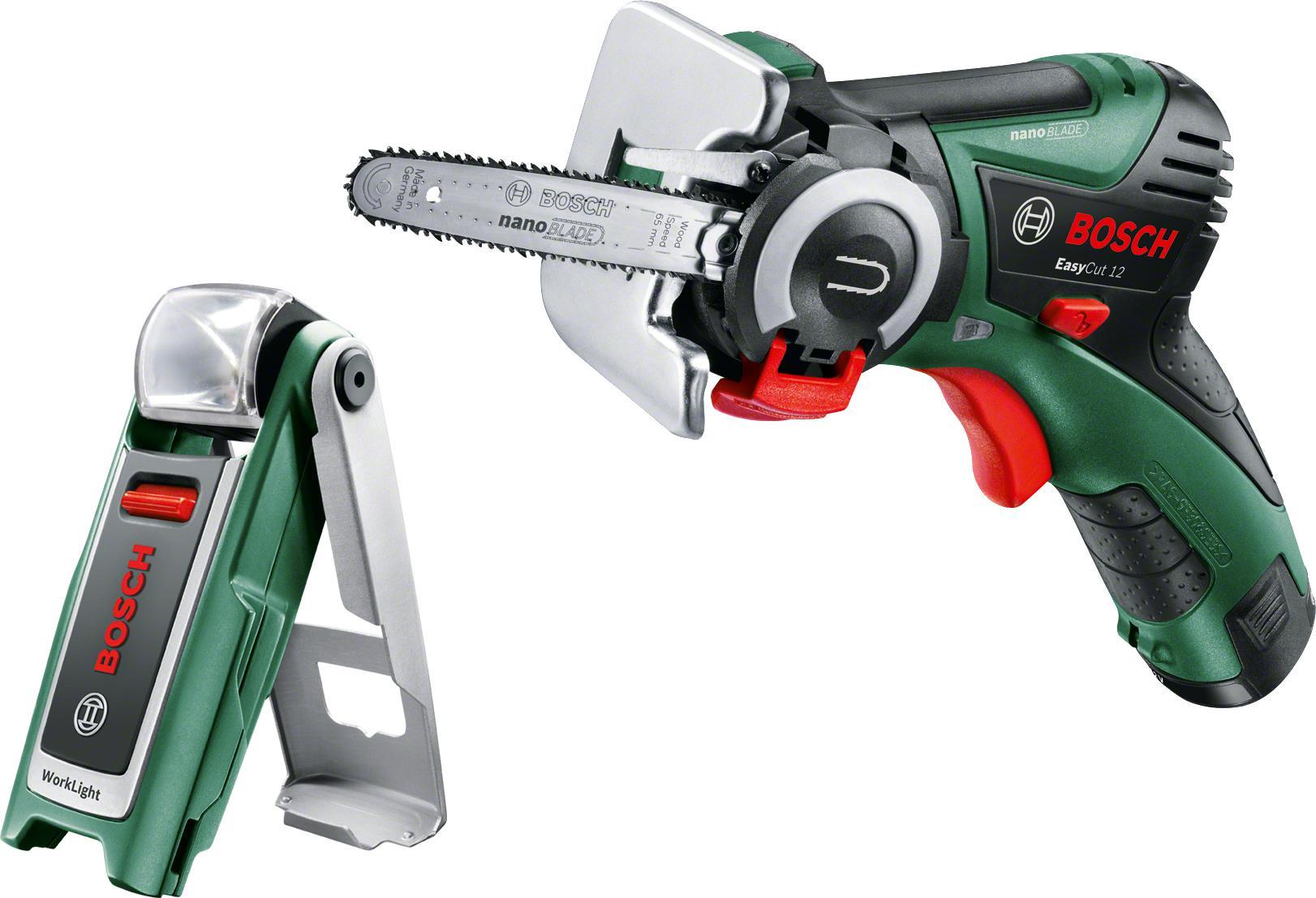 Набор Bosch Пила цепная easycut 12 (0.603.3c9.020) +Фонарь 0603975801