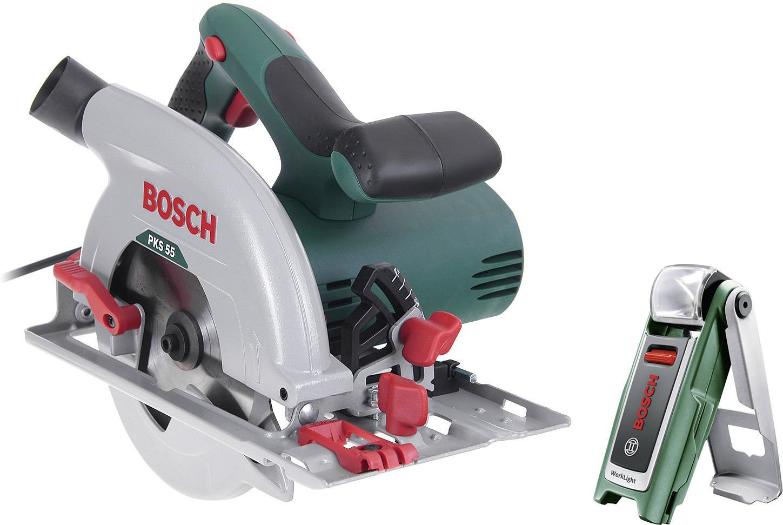 Набор Bosch Пила циркулярная pks 55 (0.603.500.020) +Фонарь 0603975801