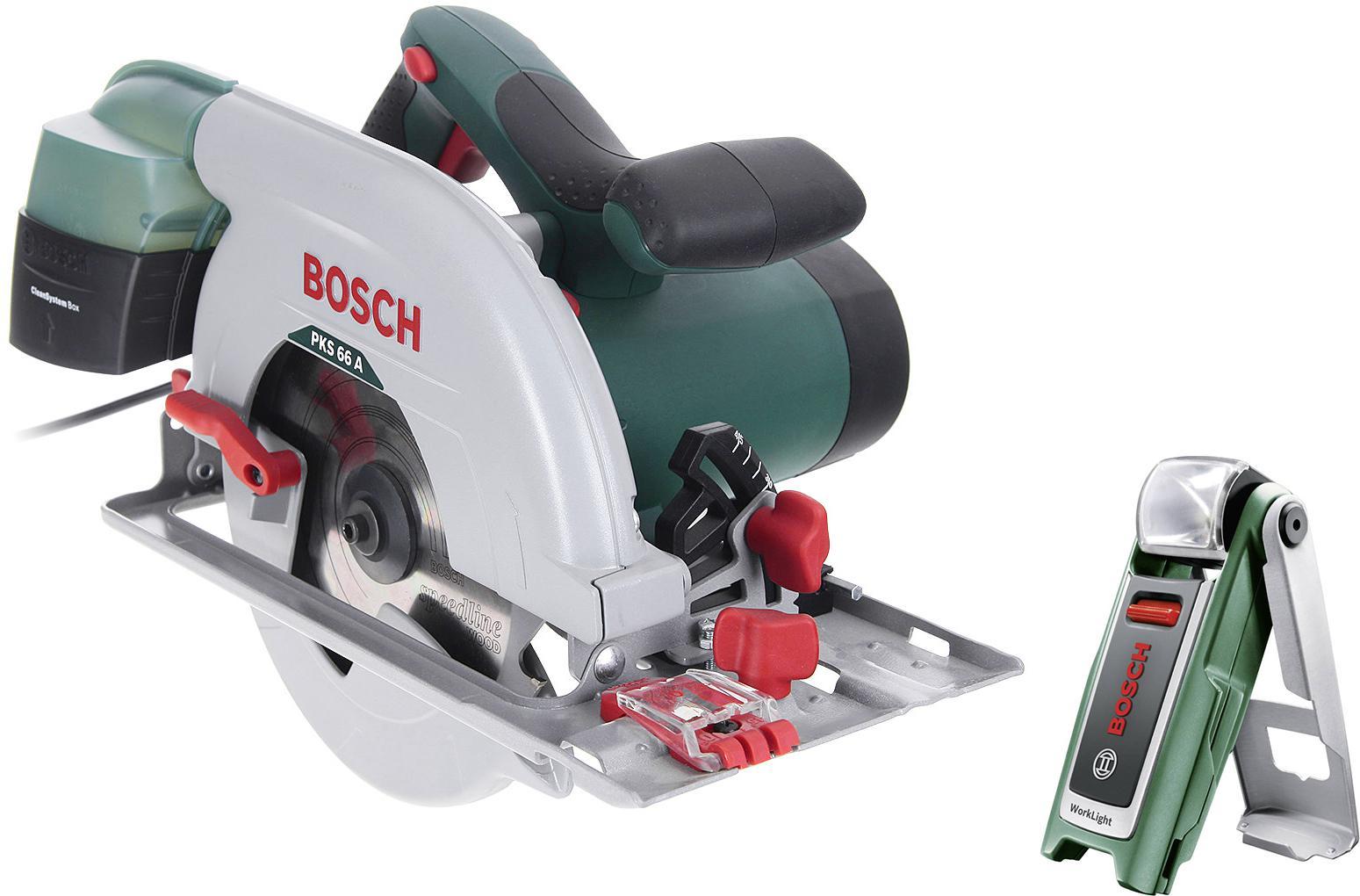 Набор Bosch Пила циркулярная pks 66 a (0.603.502.022) +Фонарь 0603975801