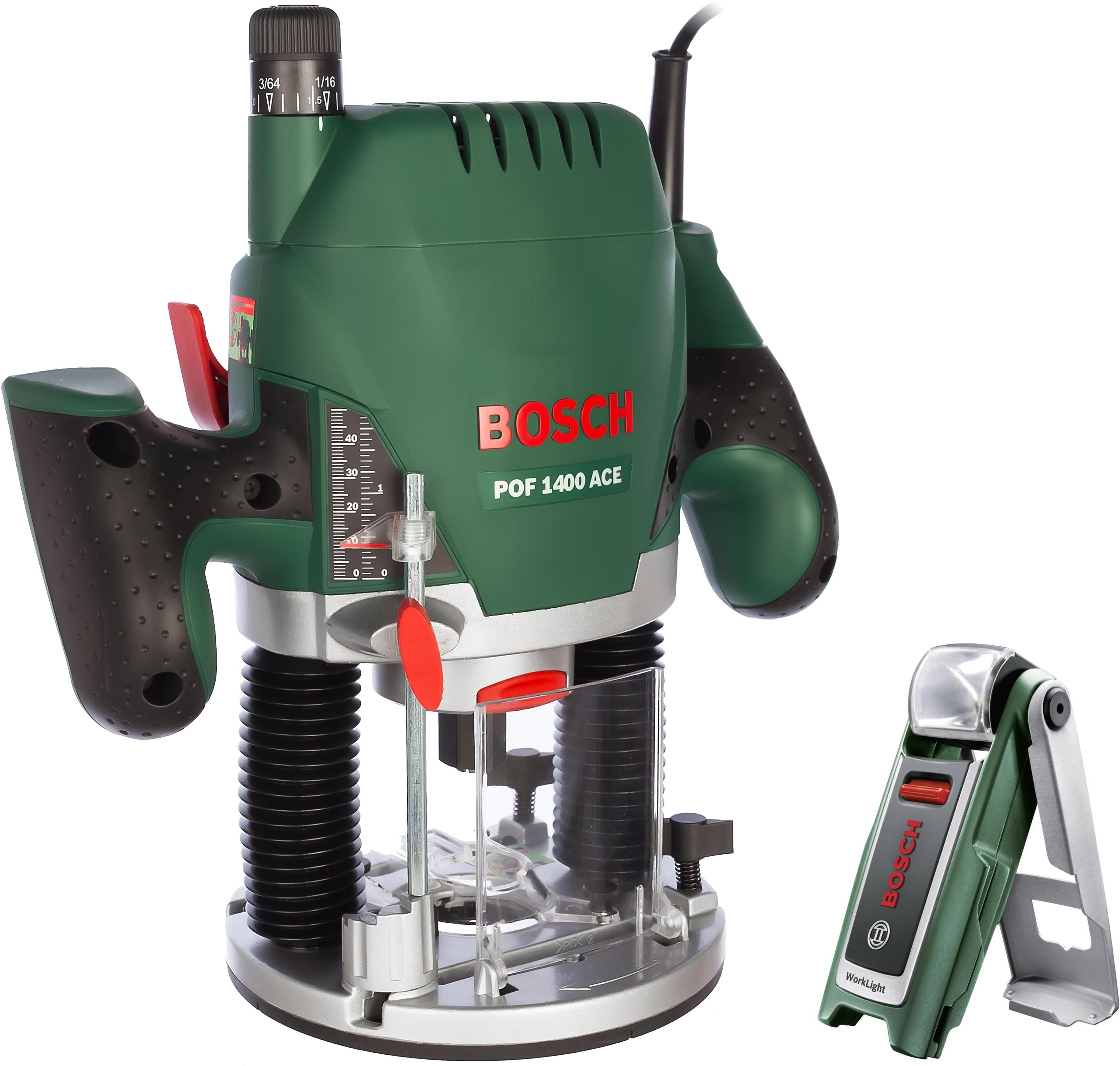 Набор Bosch Фрезер pof 1400 ace (0.603.26c.820) +Фонарь 0603975801