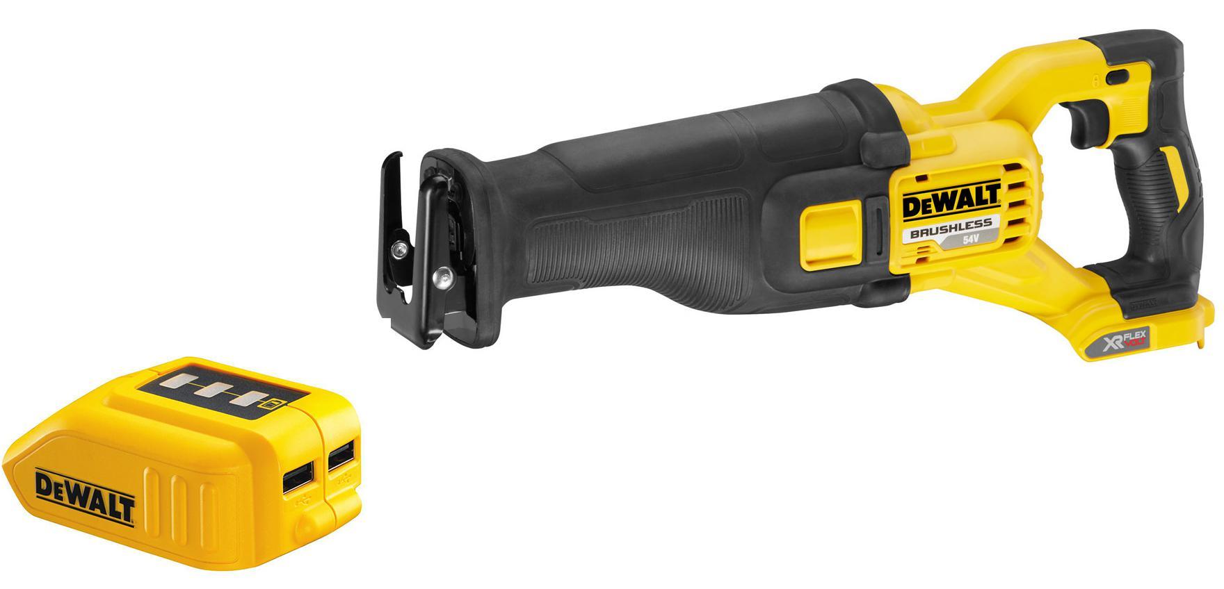 Набор Dewalt Ножовка dcs388nxj +Зарядное устройство dcb090 usb