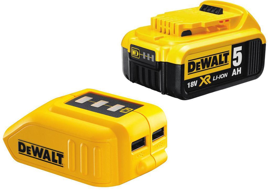 Набор Dewalt Аккумулятор dcb184xj +Зарядное устройство dcb090 usb аккумулятор для мототехники moratti yt7b bs 6 5 ач залитый пр