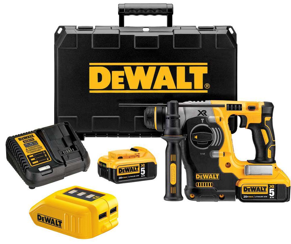 Набор Dewalt Перфоратор dch273p2 +Зарядное устройство dcb090 usb