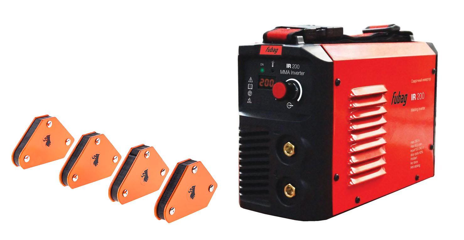 Набор Fubag Сварочный аппарат ir 200 +Угольник магнитный mcs цены