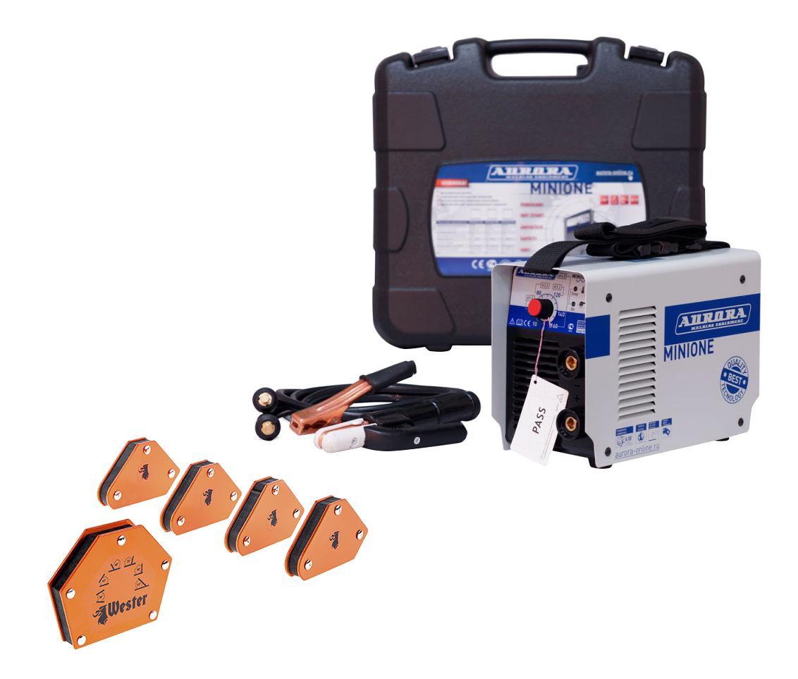 Набор Aurora Сварочный аппарат minione 1600 +Угольник магнитный mcs +Угольник магнитный wmct50 цена