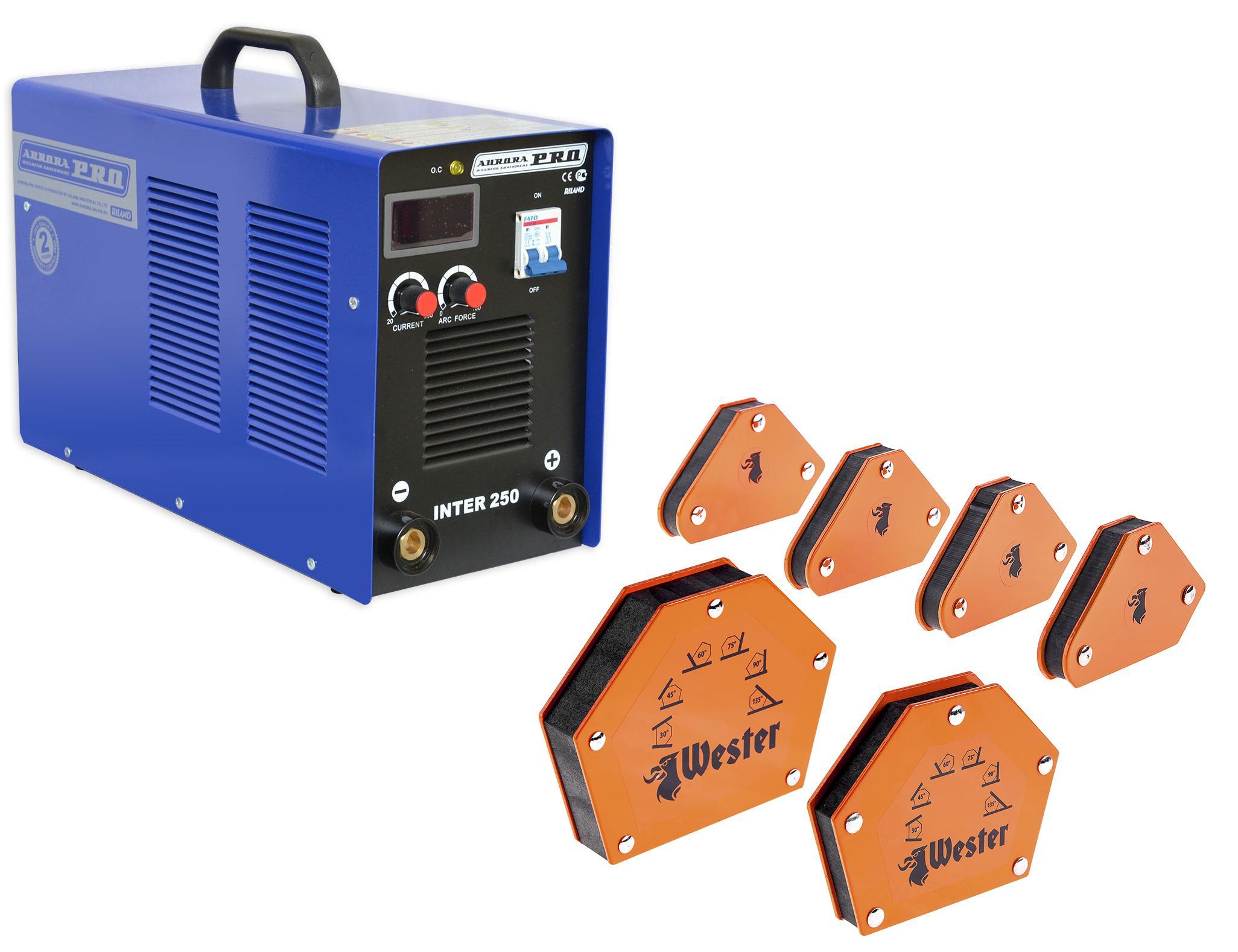 Набор Aurora pro Сварочный аппарат inter 250 mosfet +Угольник магнитный mcs +Угольник магнитный wmct50 +Угольник магнитный wmct75