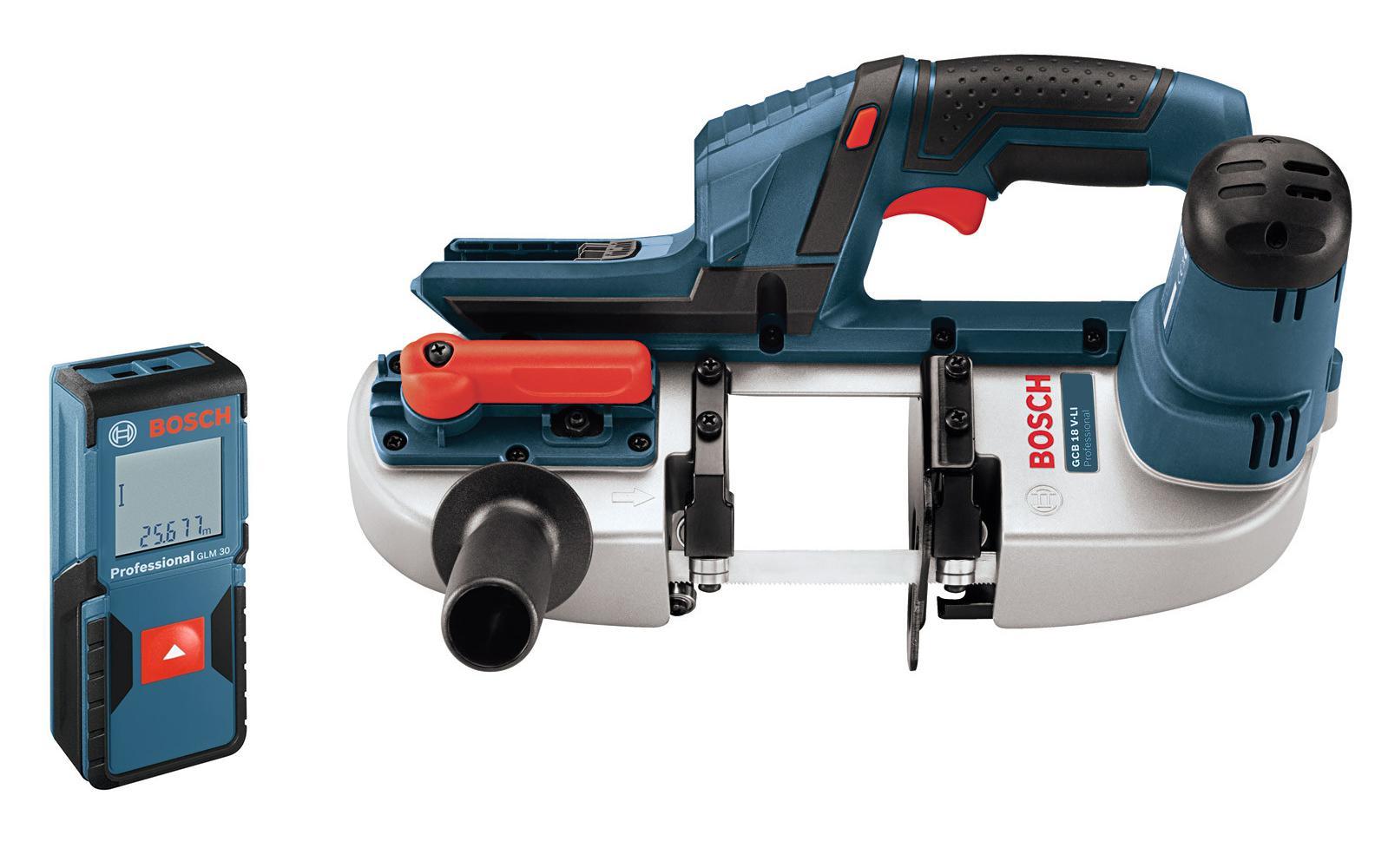 Набор Bosch Пила ленточная gcb 18 v-li (0.601.2a0.300) +Дальномер glm 30 (0.601.072.500)