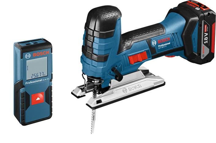 Набор Bosch Лобзик gst 18 v-li s (0.601.5a5.100) +Дальномер glm 30 (0.601.072.500)