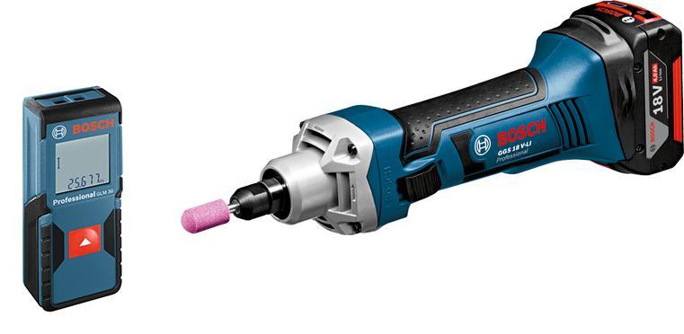Набор Bosch Машинка шлифовальная прямая ggs 18 v-li l-boxx (0.601.9b5.303) +Дальномер glm 30 (0.601.072.500)