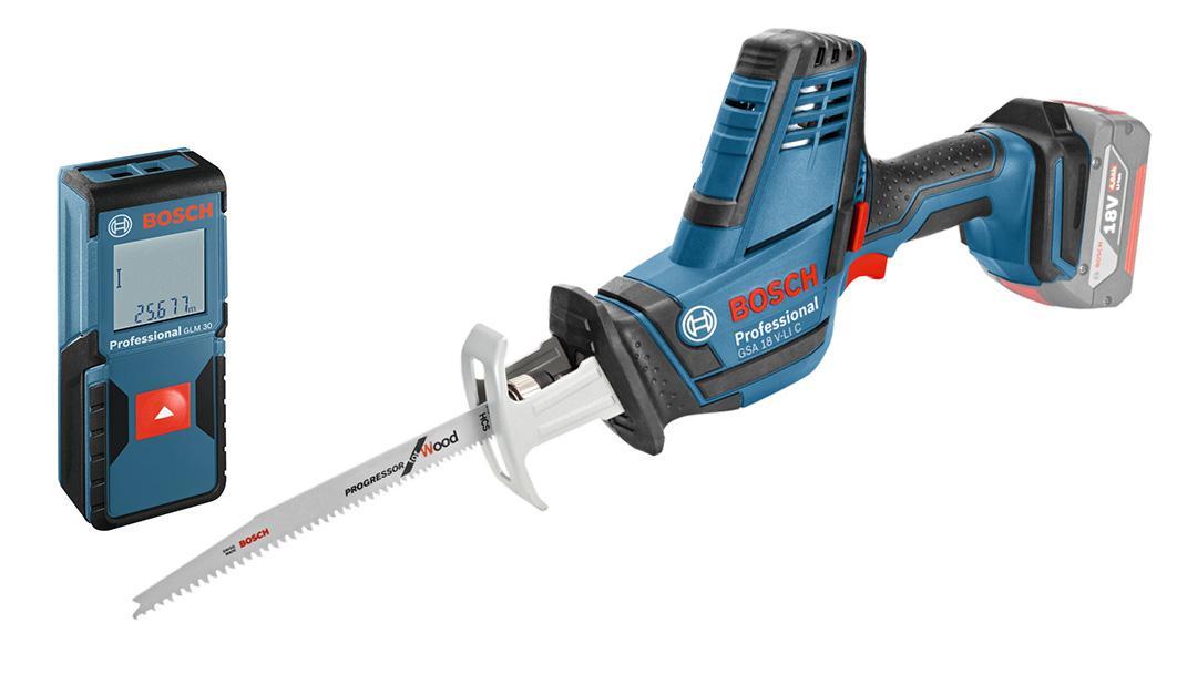 Набор Bosch Ножовка gsa 18 v-li c (0.601.6a5.001) +Дальномер glm 30 (0.601.072.500)