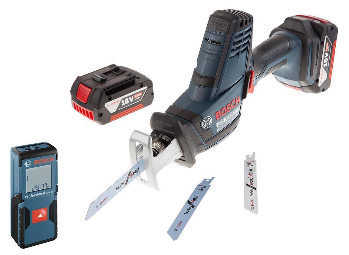 Набор Bosch Ножовка gsa 18v-li c (0.601.6a5.002) +Дальномер glm 30 (0.601.072.500)