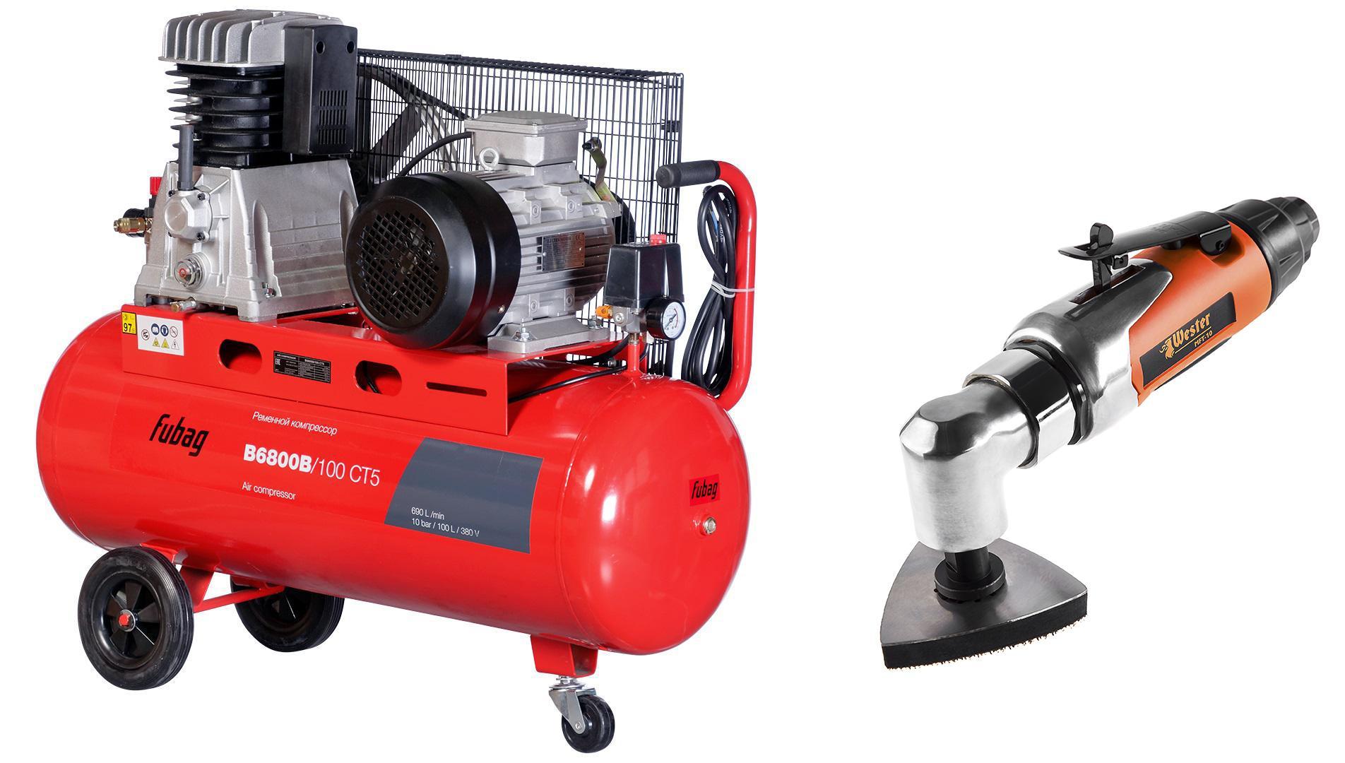 цена на Набор Fubag Компрессор b6800b/100 СТ5 +Инструмент многофункциональный mft-10