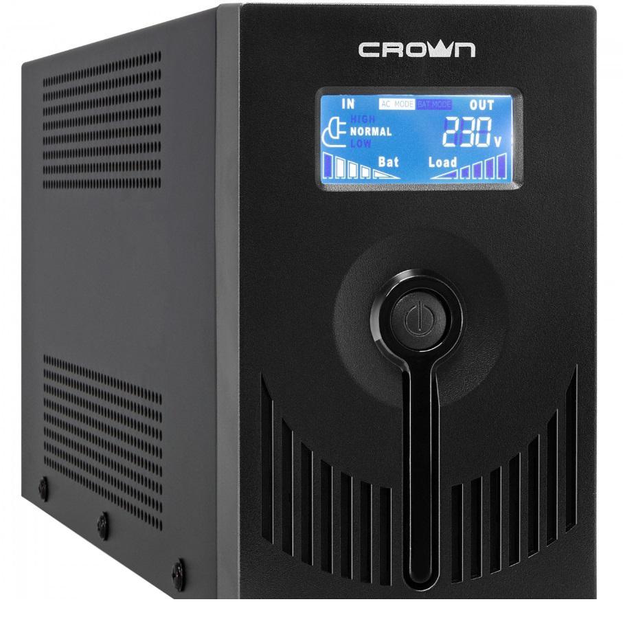 Источник бесперебойного питания Crown Line intractive cmu-sp650euro usb 650va\390w