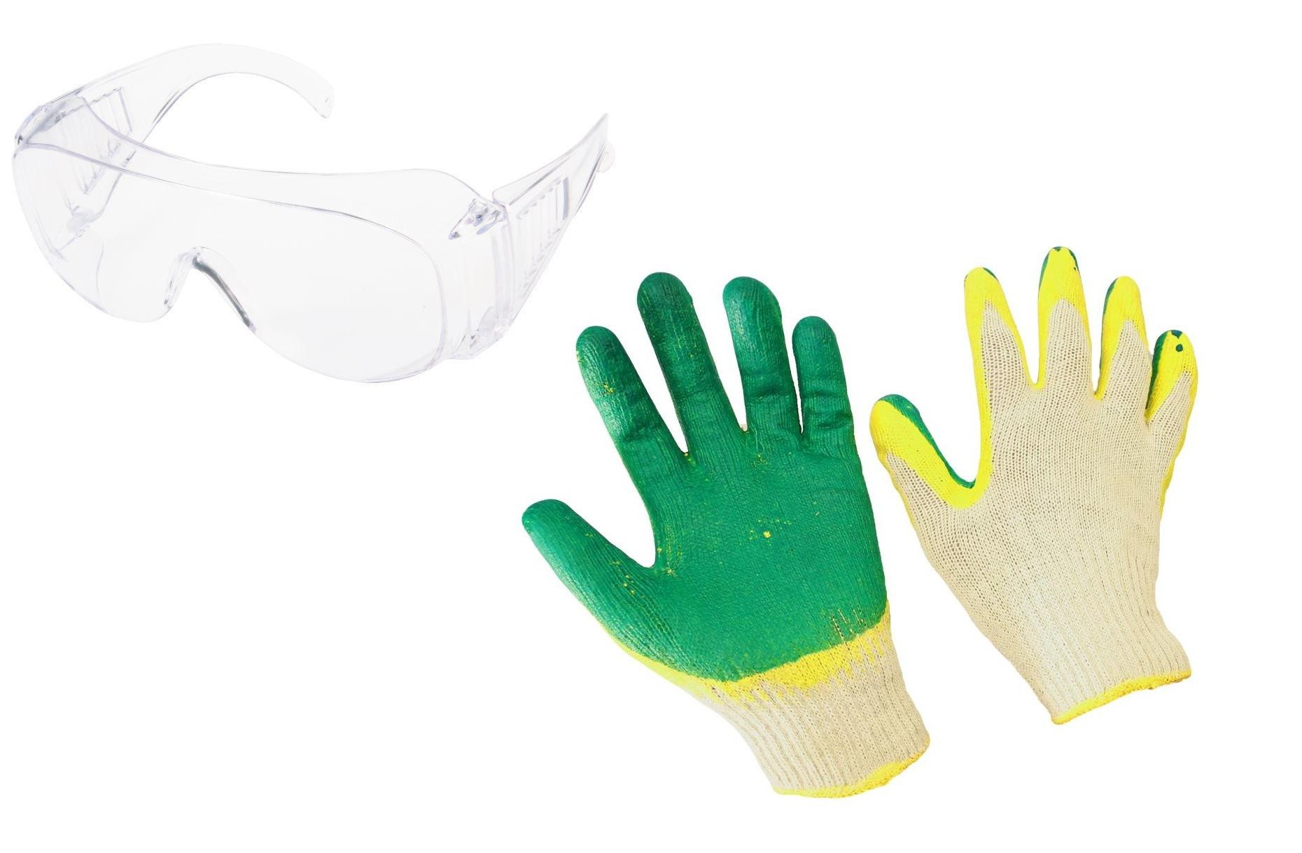 Набор РОСОМЗ Очки 13511 +Перчатки Двойной облив перчатки newton per36 джерси люкс нитриловые полный облив манжет краги подкладка 150г