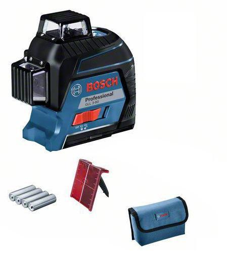 Набор Bosch Уровень gll 3-80c+вкладка l-boxx (0.601.063.r00) +Дальномер glm 30 (0.601.072.500)