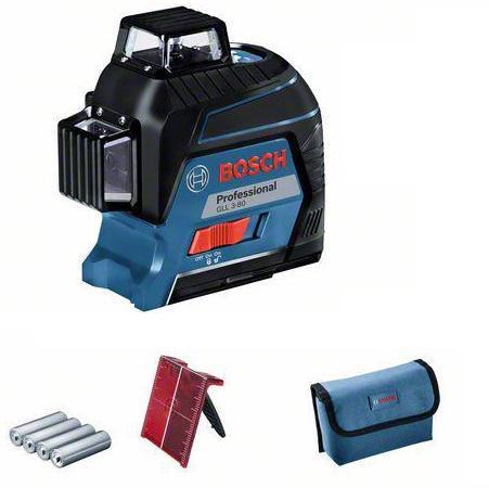 Набор Bosch Уровень gll 3-80c+bm1+12v+l-boxx (0.601.063.r02) +Дальномер glm 30 (0.601.072.500)