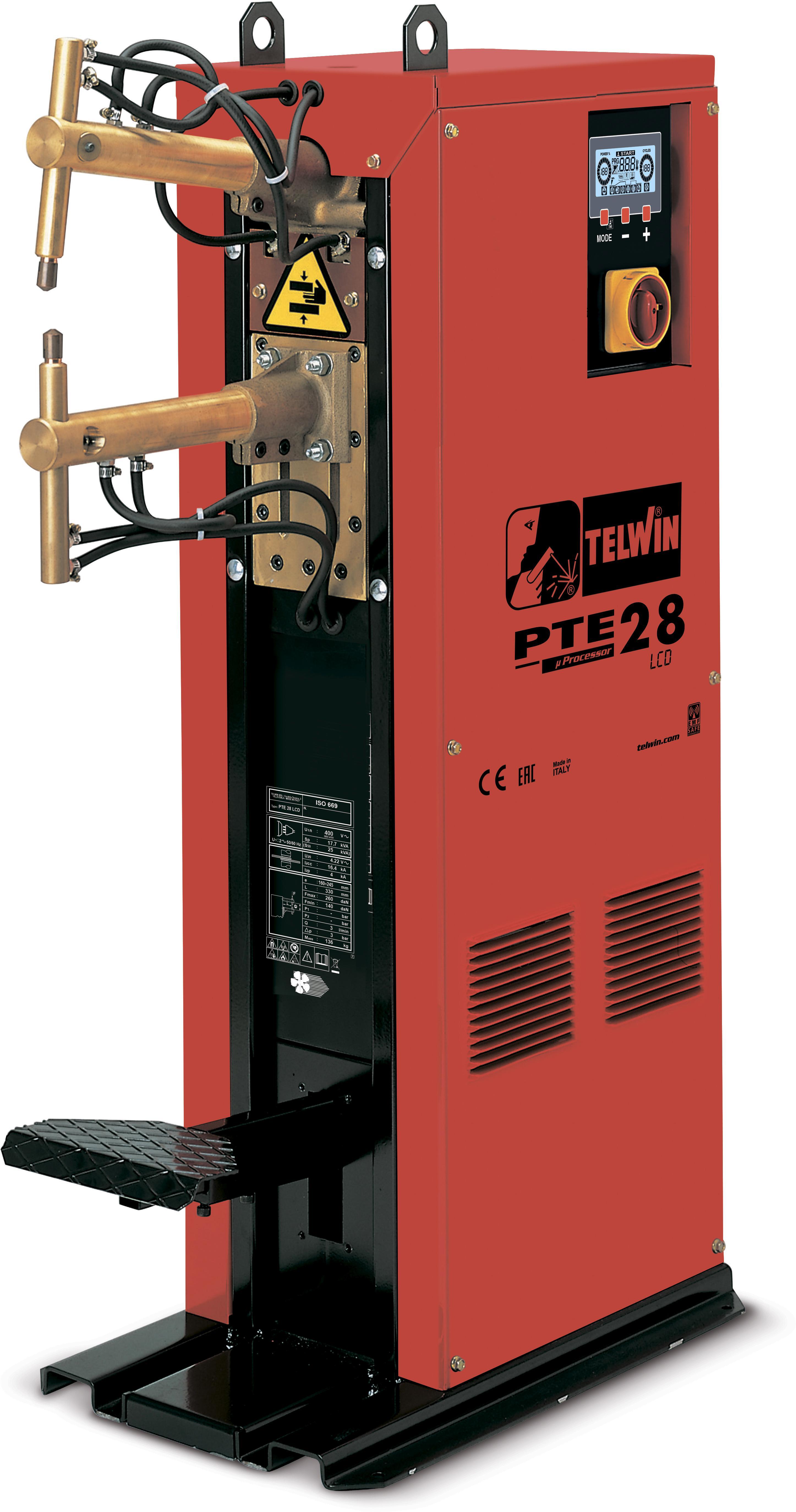 Купить Сварочный аппарат Telwin Pte 28 lcd 400v