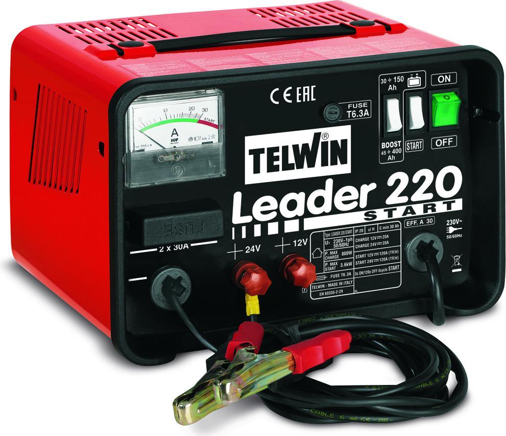 Устройство пуско-зарядное Telwin Leader 220 start пуско зарядное устройство neoline jump starter 500a
