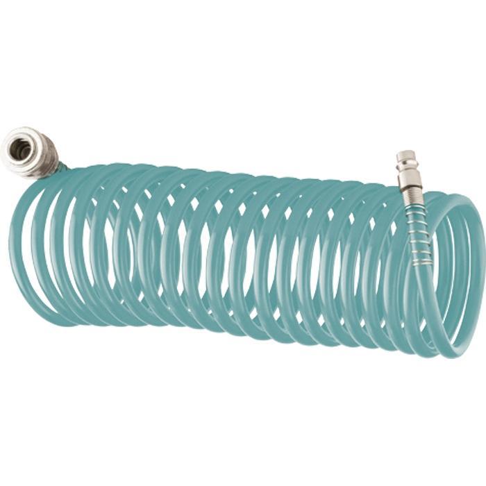 Шланг спиральный для пневмоинструмента Stels 57007 шланг для пневмоинструмента stels резиновый 10x16мм 10м