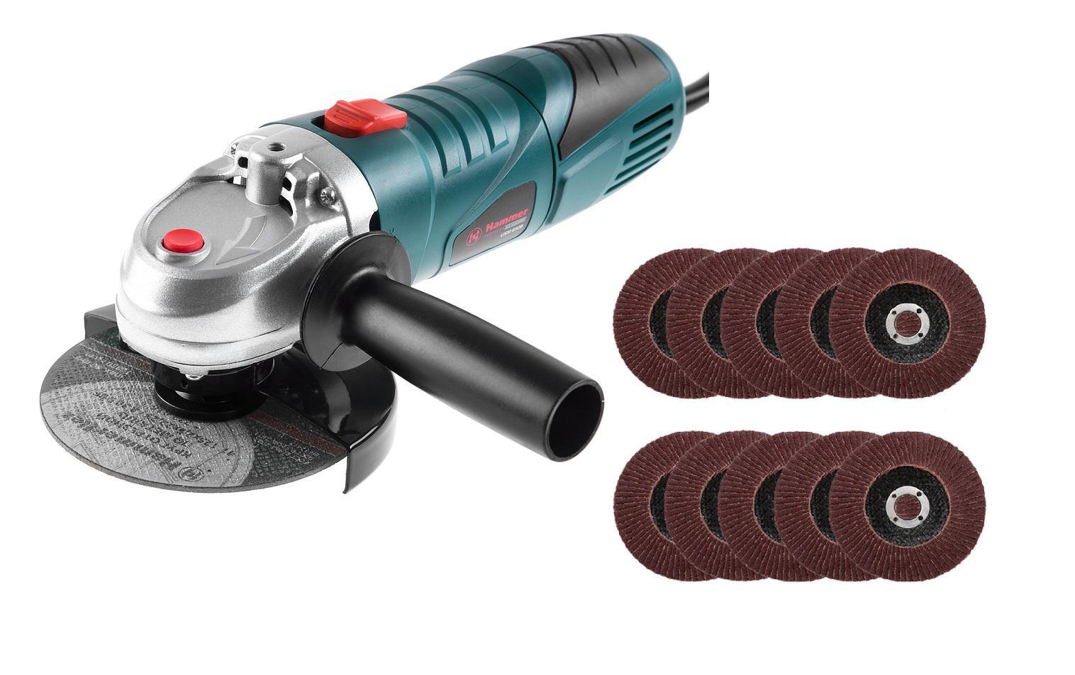 Купить Набор Hammer Ушм Usm850B Premium   10 Клт Hammer Flex 125 Х 22 Р 40
