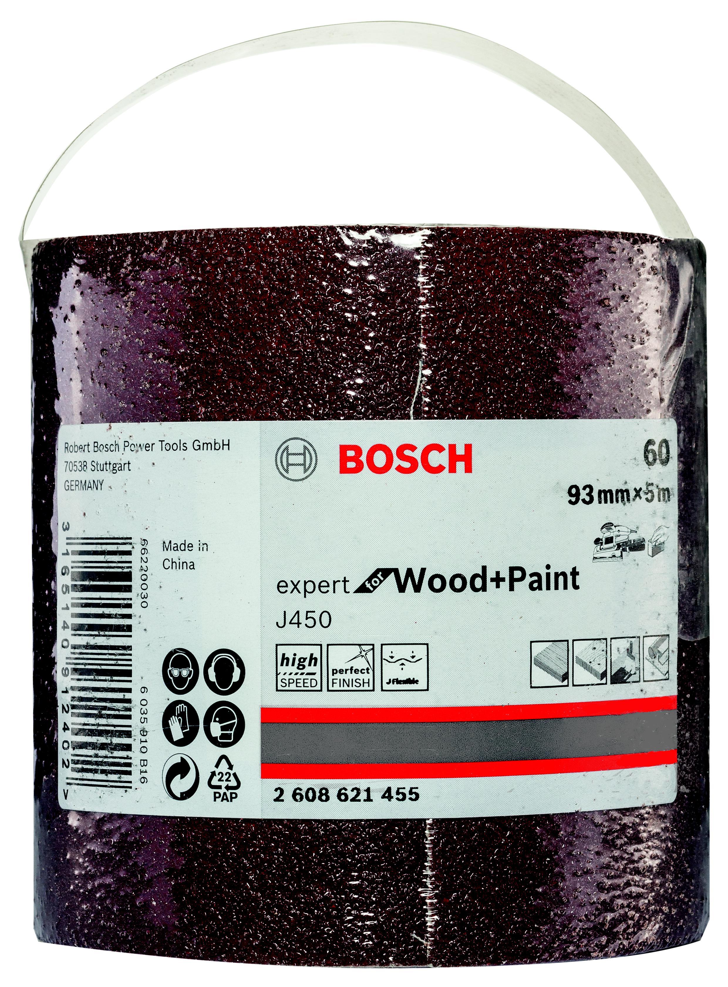 Шкурка шлифовальная в рулоне Bosch 93x5000 мм g60 (2.608.621.455)