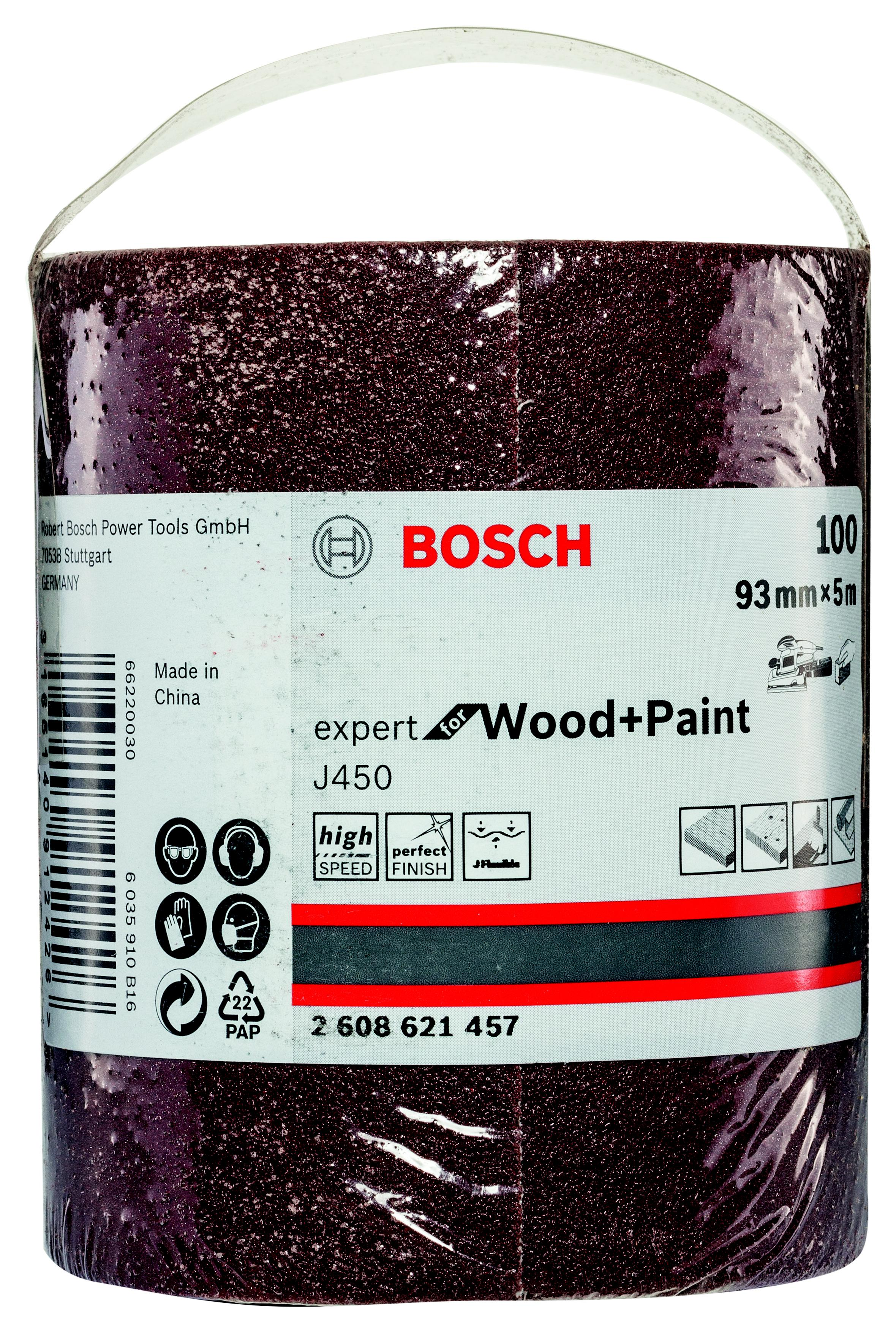 Шкурка шлифовальная в рулоне Bosch 93x5000 мм g100 (2.608.621.457)