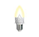 Лампа UNIEL LED-C37 7W/WW/E14/FR