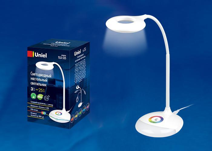 Купить Светильник Uniel Tld-535 white/led/250lm/5500k/dimmer
