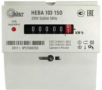 Счетчик электроэнергии ТАЙПИТ 6121129 НЕВА 103 1s0