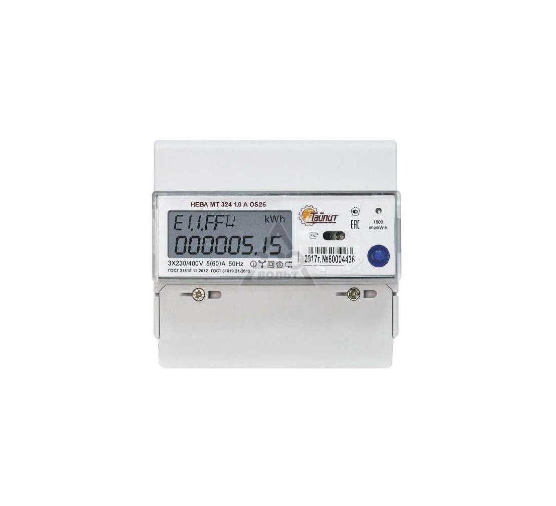 Счетчик электроэнергии ТАЙПИТ 6118533 НЕВА МТ 324 1.0 A OS 26