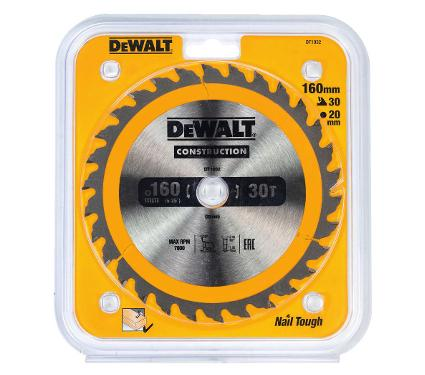 Диск пильный твердосплавный DEWALT Ф160х20мм 30зуб. (DT1932-QZ)