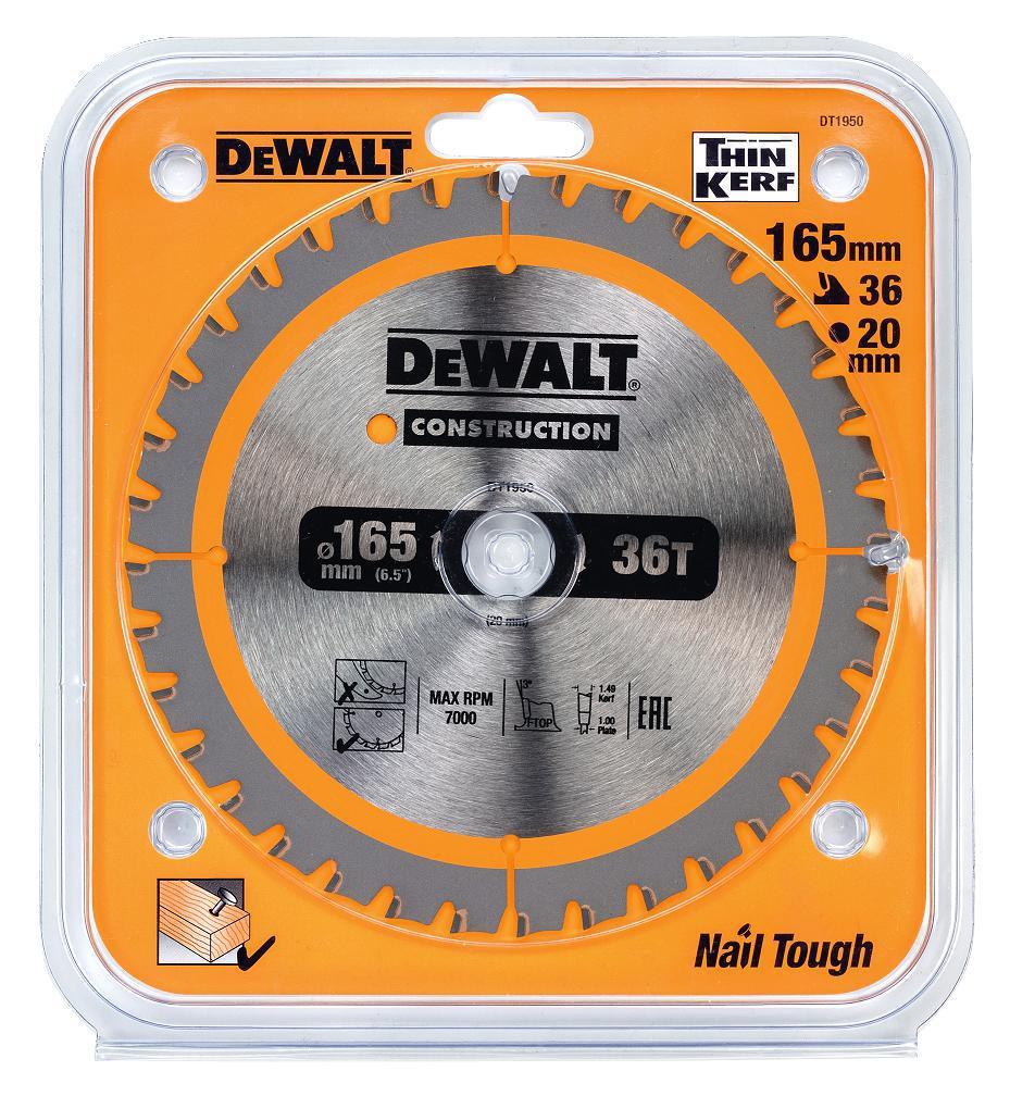 Диск пильный твердосплавный Dewalt Ф165х20мм 36зуб. (dt1950-qz) диск пильный твердосплавный dewalt dt1950 qz