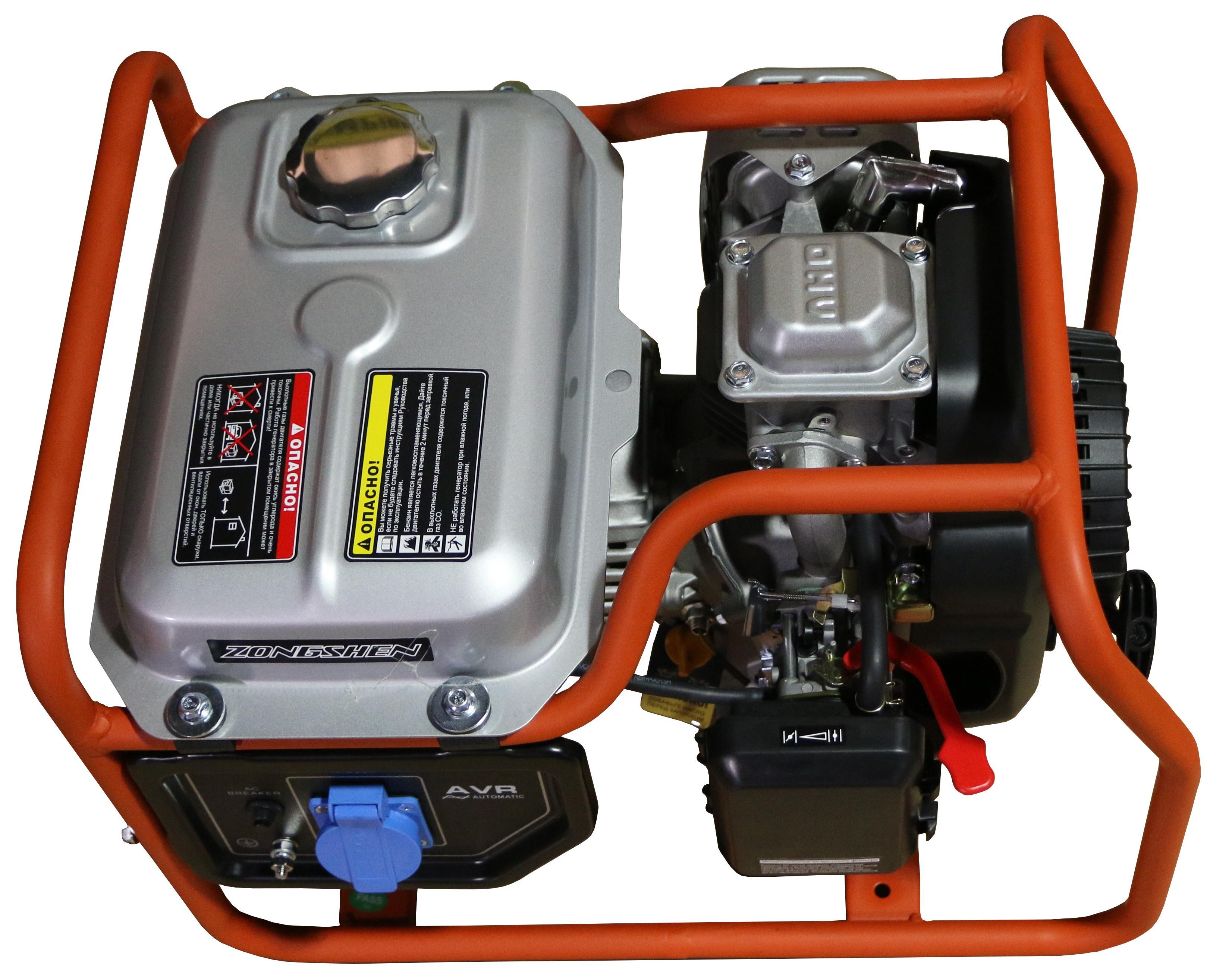 Бензиновый генератор Zongshen Ph 1800