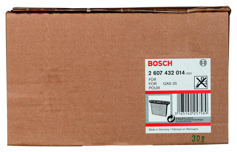 Фильтр Bosch для пылесоса gas 25, складчатый (2.607.432.014) мешки для пылесоса bosch для пылесоса gas 25 2 605 411 167 для gas 25 5шт