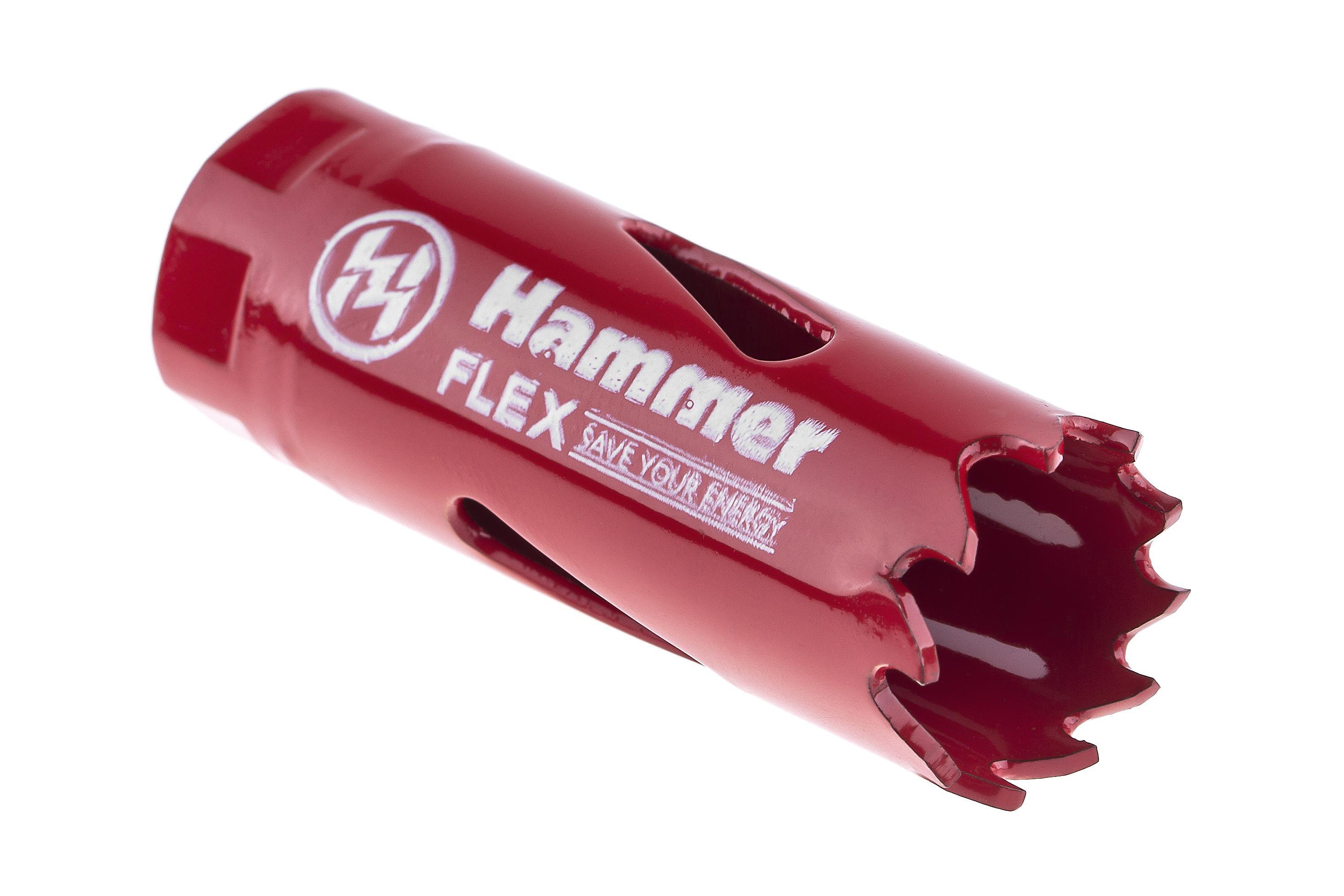 Коронка биметаллическая Hammer 224-001 bimetall 19 мм адаптер hammer 224 017 33683