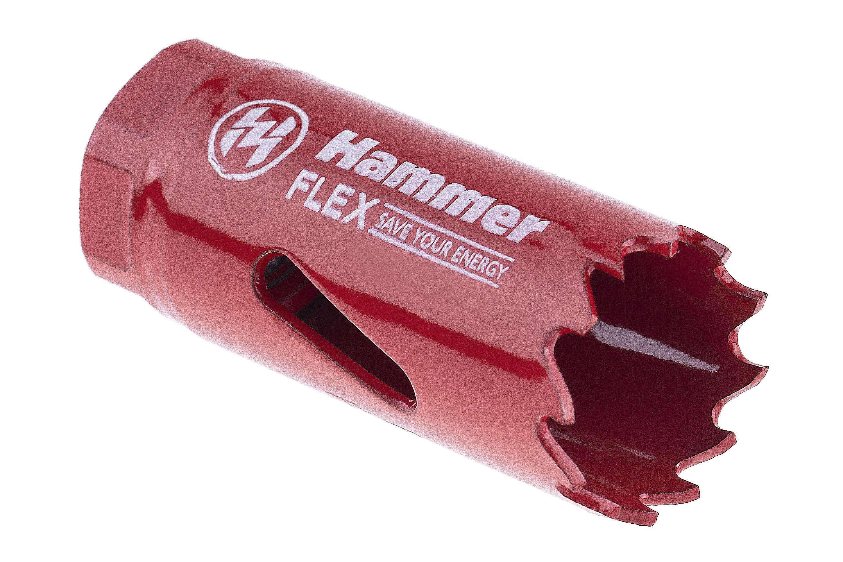 Коронка биметаллическая Hammer 224-003 bimetall 22 мм коронка биметаллическая hammer 224 011 bimetall 57 мм