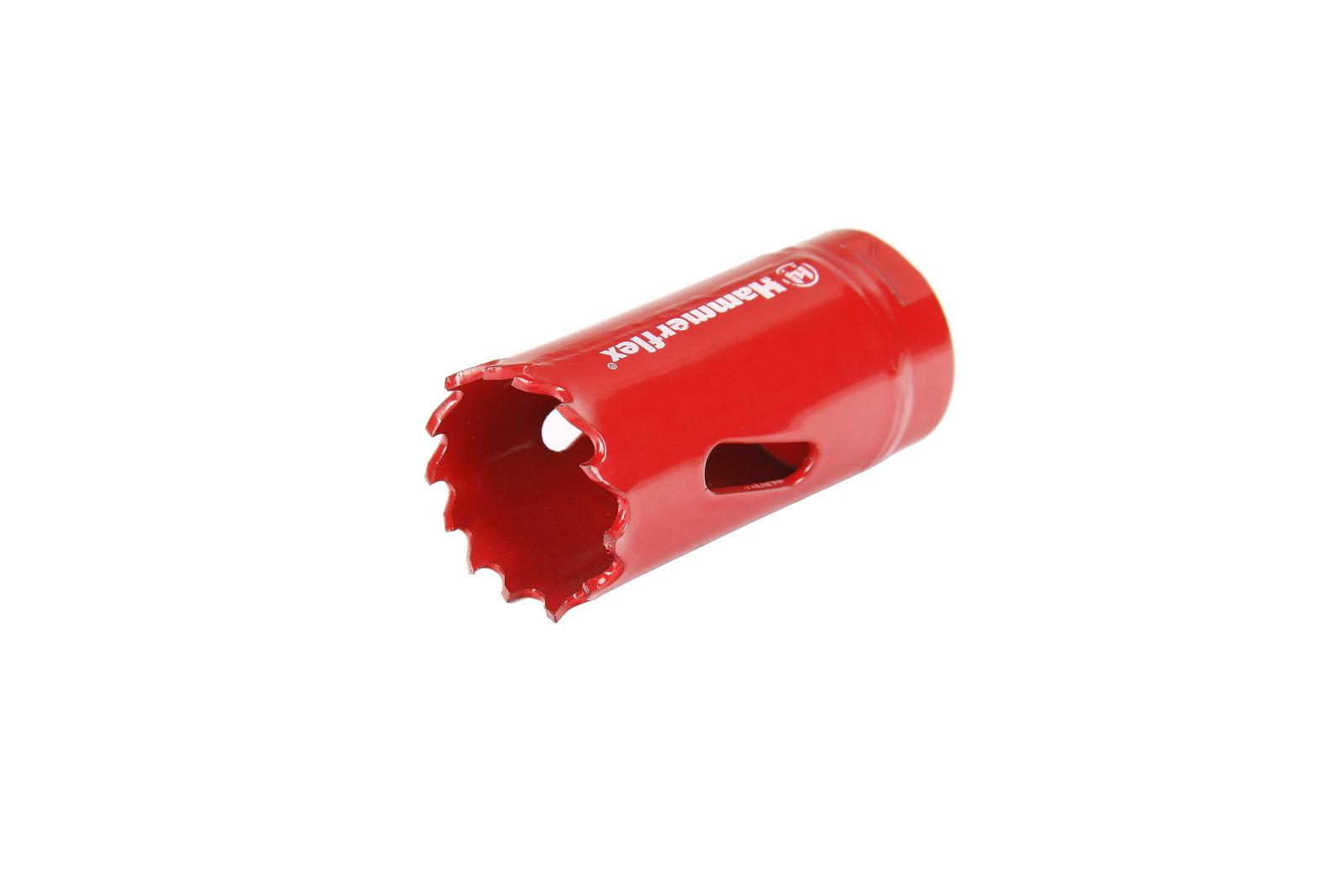 Коронка биметаллическая Hammer 224-004 bimetall 25 мм коронка биметаллическая hammer 224 011 bimetall 57 мм
