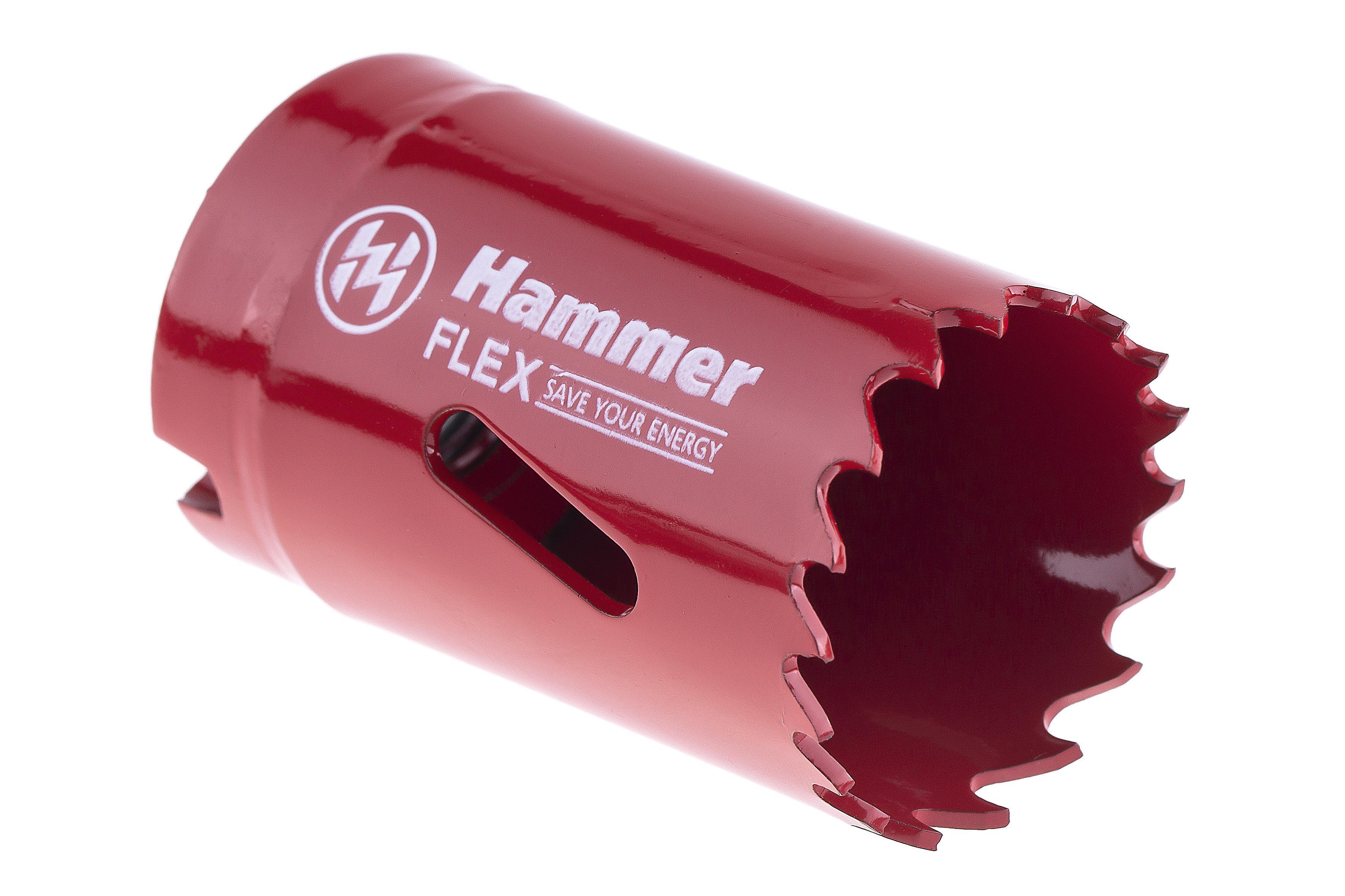Коронка биметаллическая Hammer 224-006 bimetall 32 мм коронка биметаллическая hammer 224 011 bimetall 57 мм