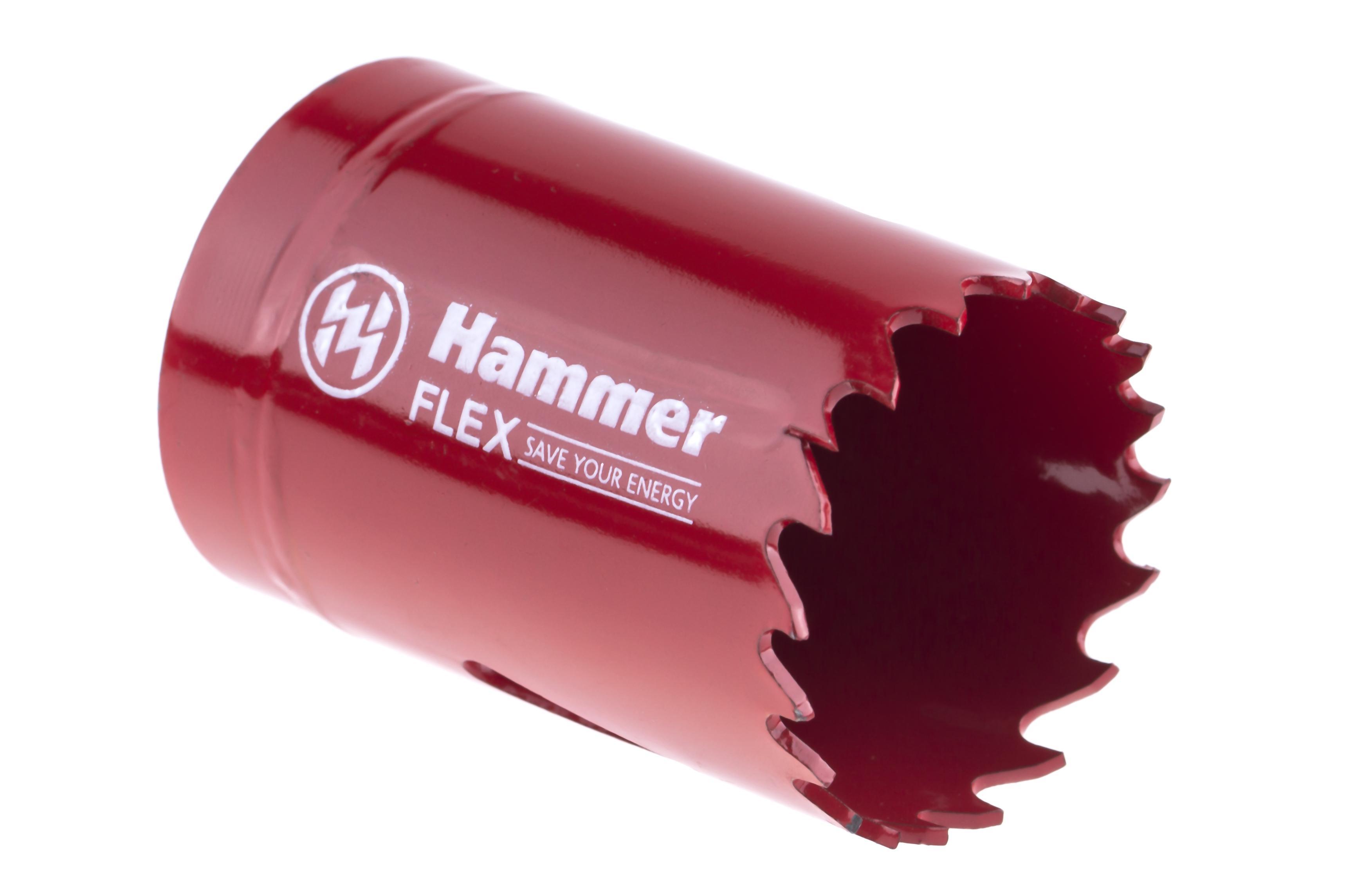 Коронка биметаллическая Hammer 224-007 bimetall 35 мм коронка биметаллическая hammer 224 011 bimetall 57 мм