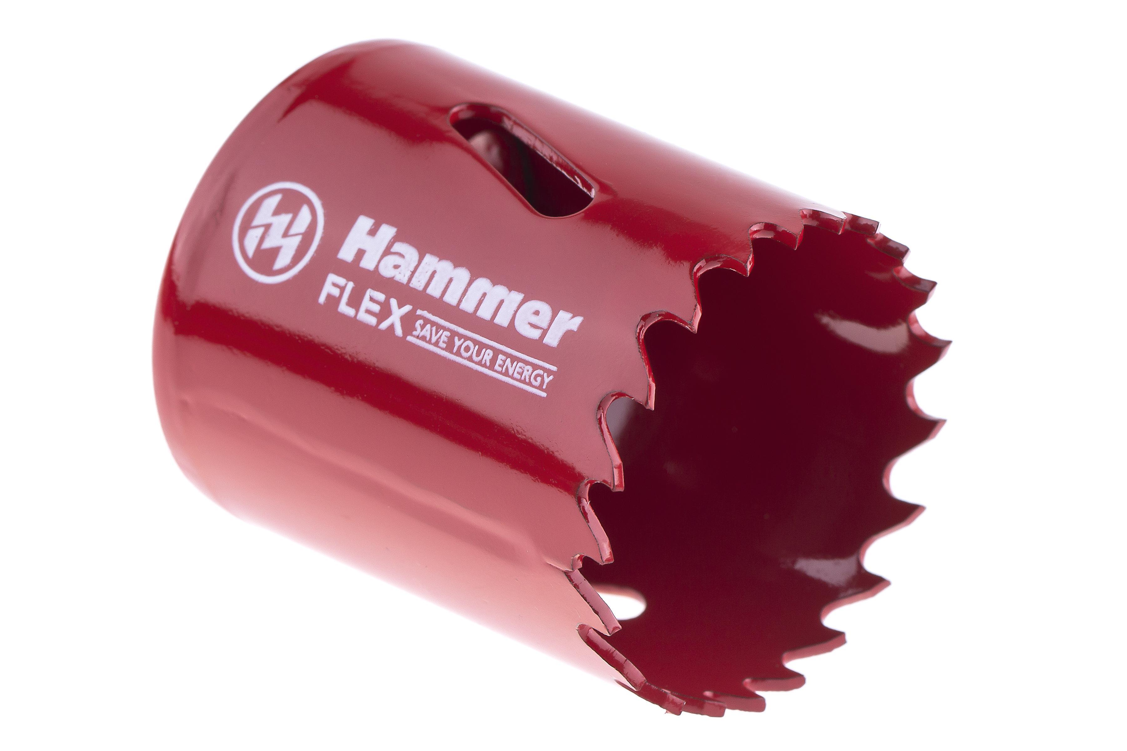 Коронка биметаллическая Hammer 224-008 bimetall 38 мм коронка биметаллическая hammer 224 011 bimetall 57 мм