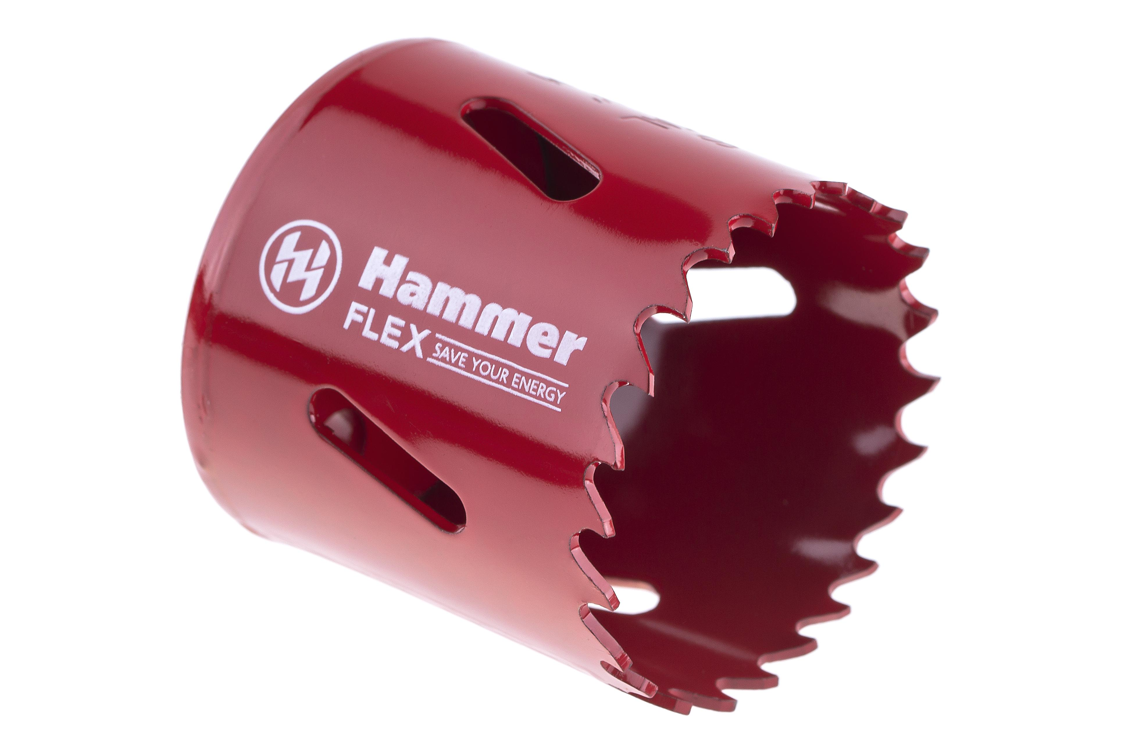 Коронка биметаллическая Hammer 224-009 bimetall 44 мм коронка биметаллическая hammer 224 011 bimetall 57 мм