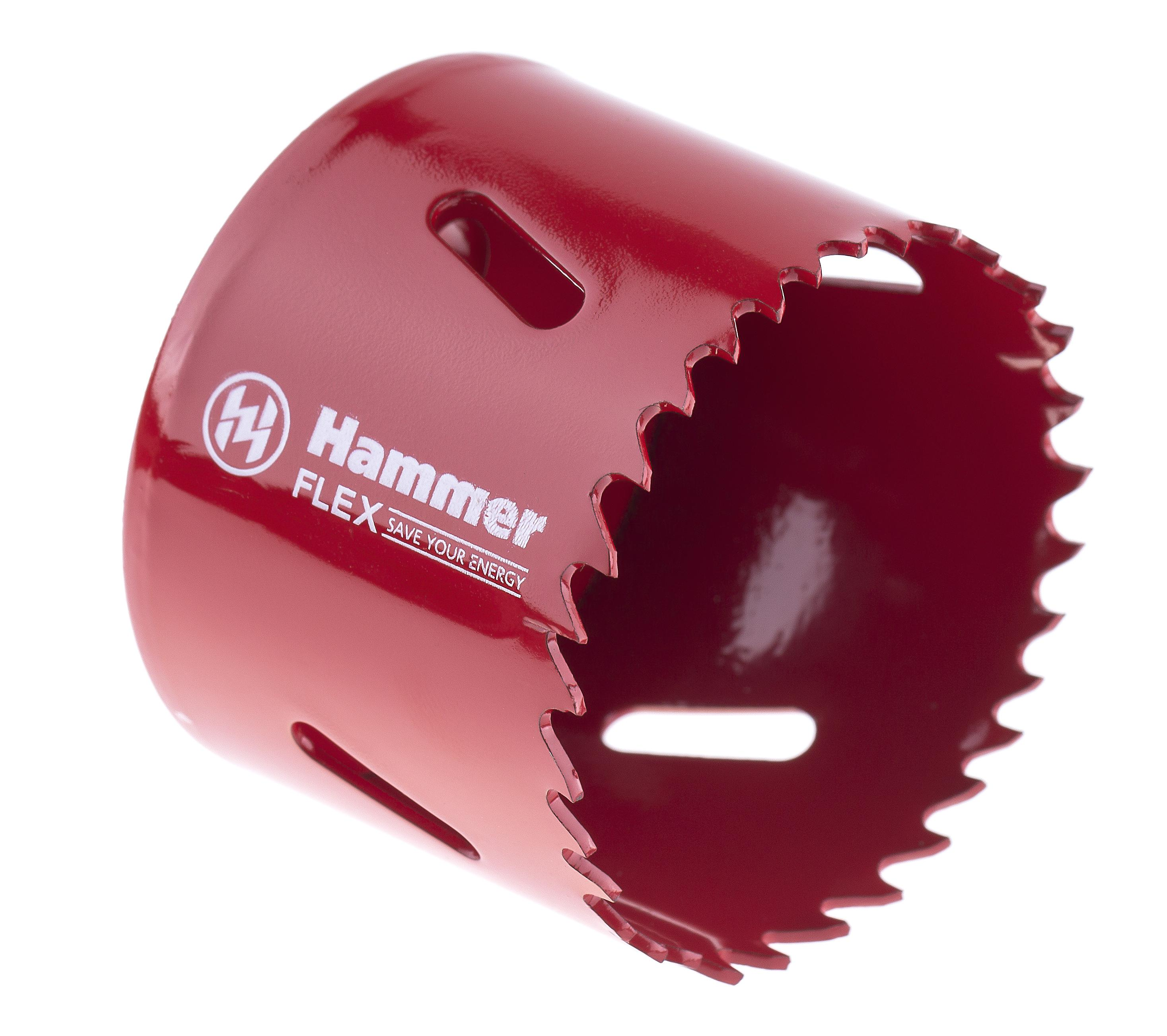 цены Коронка биметаллическая Hammer 224-011 bimetall 57 мм