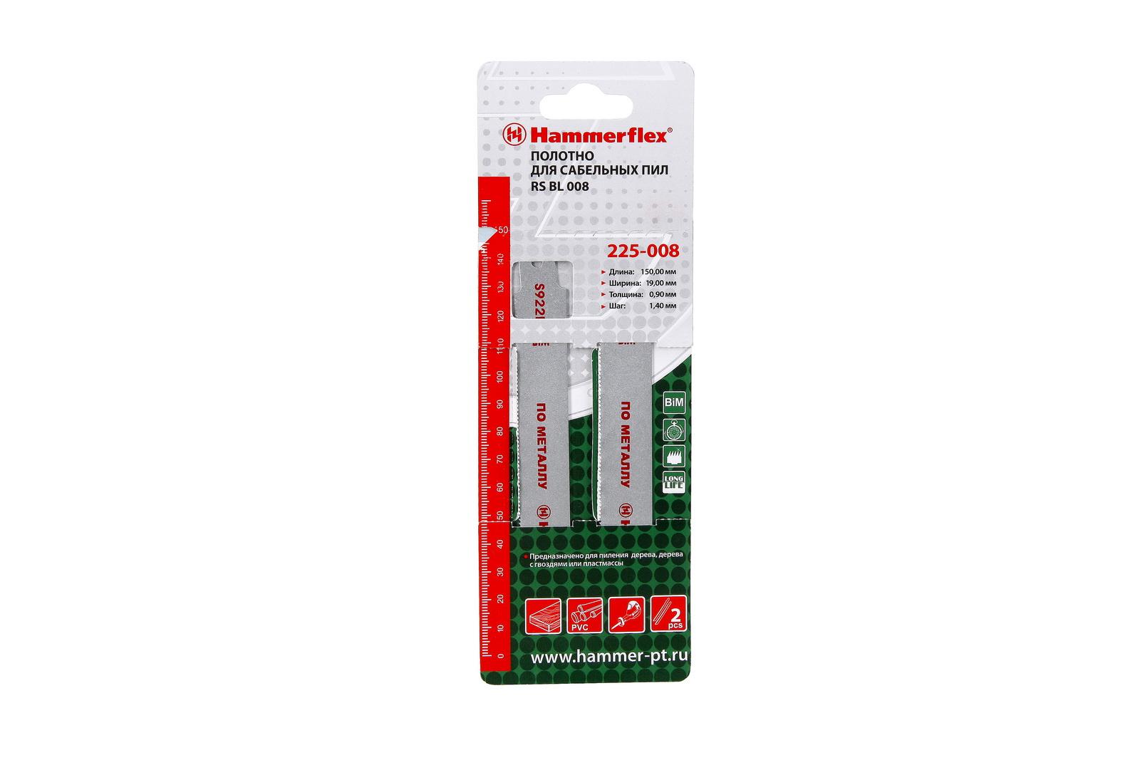 Полотно для сабельной пилы Hammer Rs bl 008 rowenta dymbo rs 008 турбо щ тка