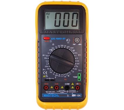 220 Вольт - Мультиметр MASTECH MY64 цифровой в Тюмени - цена, характеристики, фото, отзывы, инструкция.