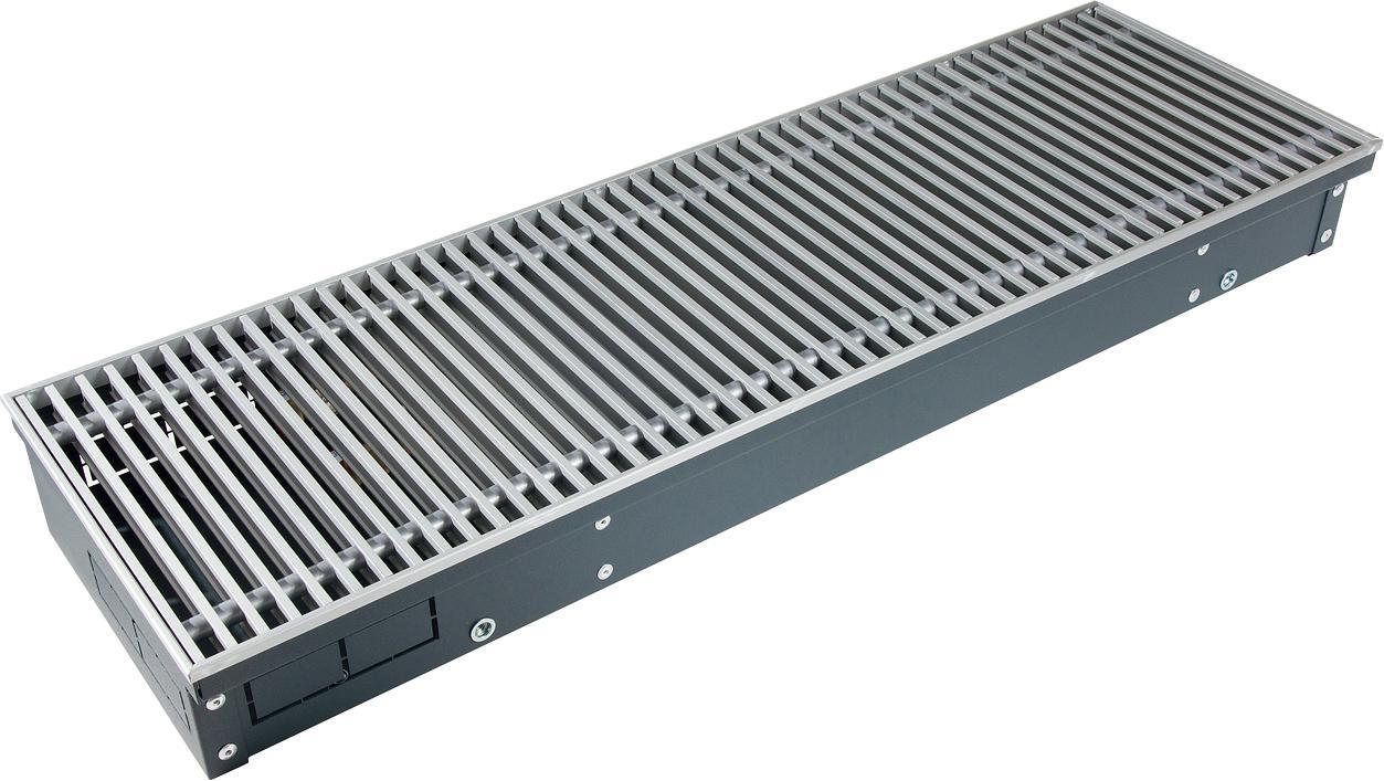 конвектор отопления techno внутрипольный с естественной конвекцией без решетки kvz 250 120 2000 Конвектор Techno Kvz 250-120-1000/РРА 250-1000