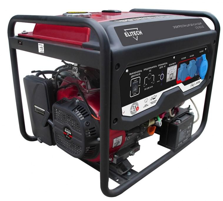 цена на Бензиновый генератор Elitech СГБ 9500ЕМ про
