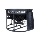 Бадья для бетона ZITREK БН-1 (021-1058) (лоток) низкая